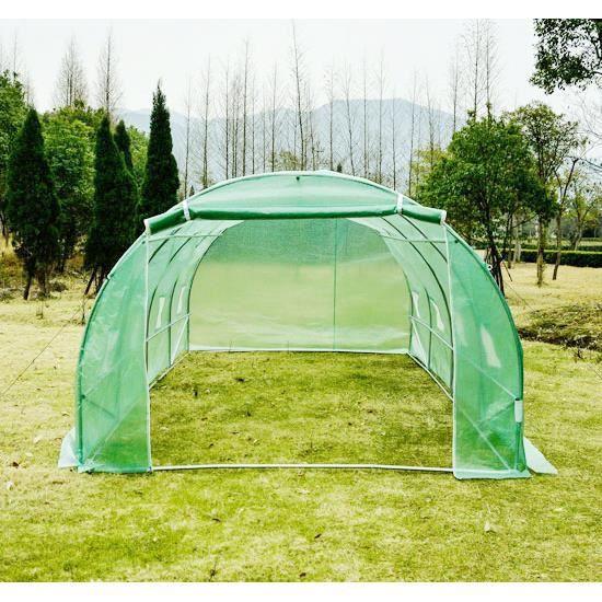 serre de jardin tente tunnel structure en acier avec 8. Black Bedroom Furniture Sets. Home Design Ideas