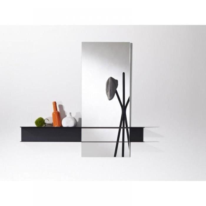 Poke miroir mural carr en verre avec pied desi achat - Miroir mural pas cher ...