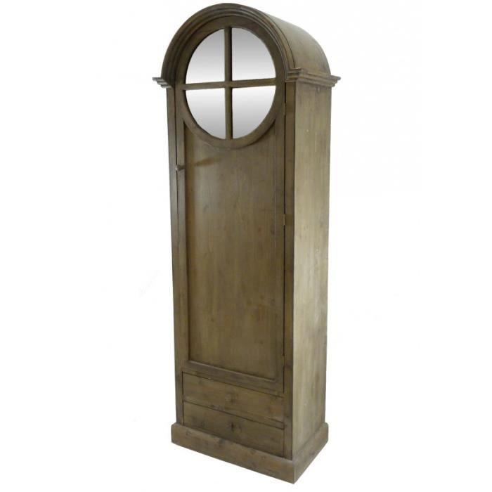 grand meuble haut bonneti re en bois biblioth que vitrine. Black Bedroom Furniture Sets. Home Design Ideas