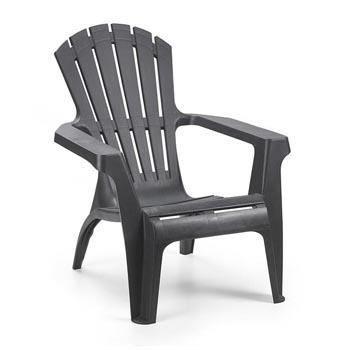 Lot 8 fauteuils gris anthracite en plastique dolomite for Fauteuil jardin plastique gris