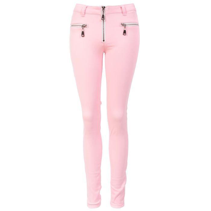 b13cba0867c5d Vente jeans Jean skinny taille haute à Rose clair Cdiscount