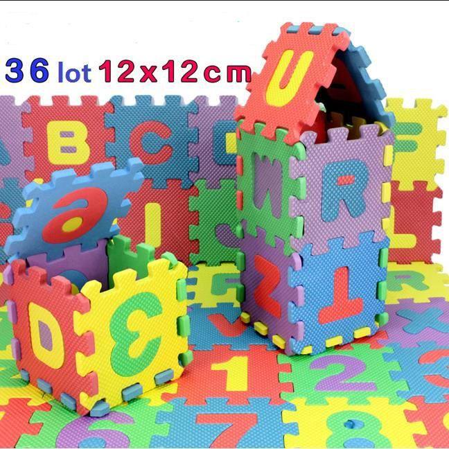 36 tapis de jeu en mousse puzzle pour enfant lettres. Black Bedroom Furniture Sets. Home Design Ideas