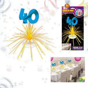 Deco Table Anniversaire 40 Ans A Faire Soi Meme