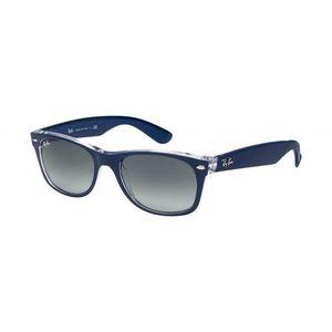LUNETTES DE SOLEIL Ray-ban New Wayfarer Rb 2132 6053/71 Bleu Mat T…
