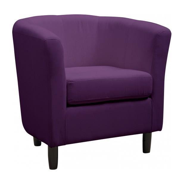 Fauteuil cabriolet coton prune achat vente fauteuil violet cdiscount - Fauteuil cabriolet violet ...