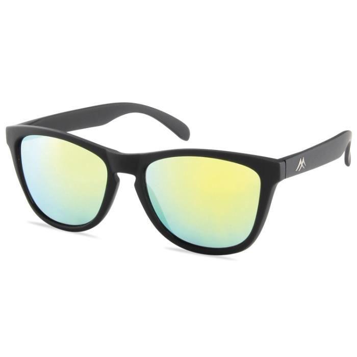 solaire noir miroir arc en ciel noir achat vente lunettes de soleil cdiscount. Black Bedroom Furniture Sets. Home Design Ideas