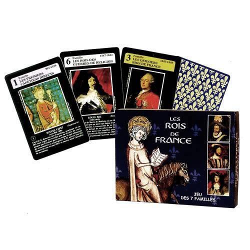 jeu de 7 familles 39 rois de france 39 achat vente cartes de jeu cdiscount. Black Bedroom Furniture Sets. Home Design Ideas