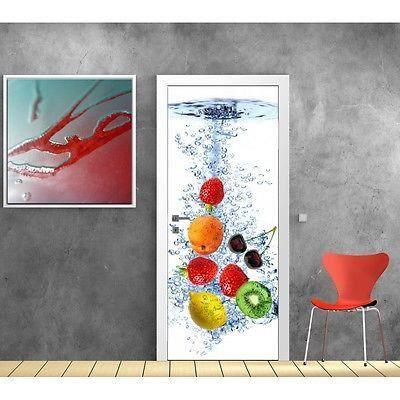 papier peint porte cuisine fruits 727 dimensions 93x204cm achat vente papier peint papier. Black Bedroom Furniture Sets. Home Design Ideas