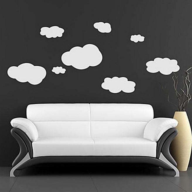 affiche murale nuage dans le ciel blanc achat vente affiche cdiscount. Black Bedroom Furniture Sets. Home Design Ideas