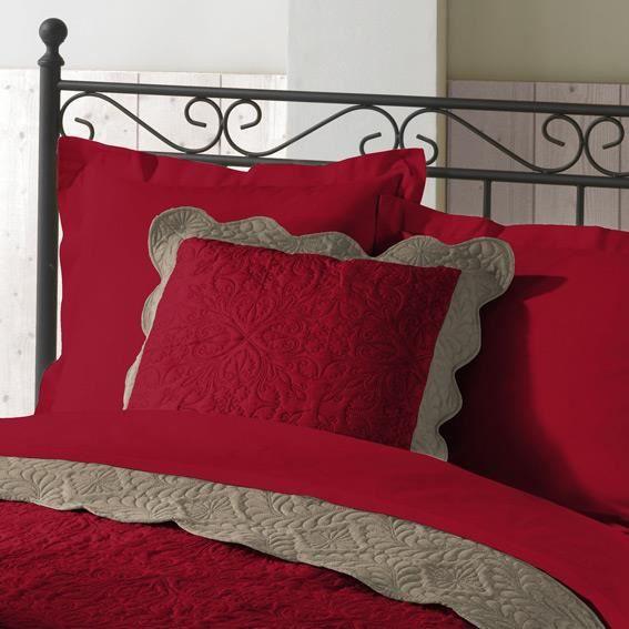 housse de coussin boutis 45 cm emma rouge achat vente coussin cdiscount. Black Bedroom Furniture Sets. Home Design Ideas