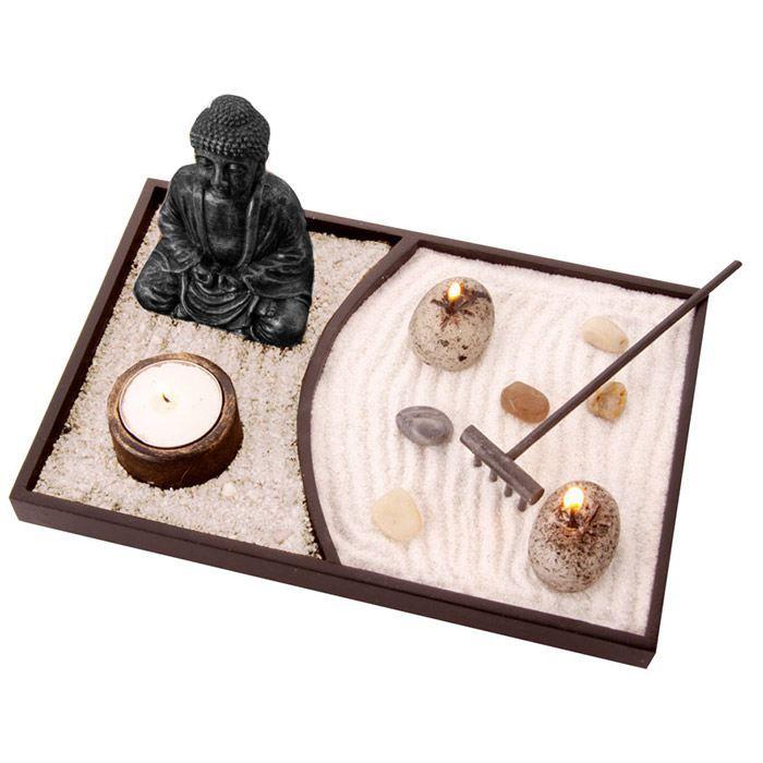 jardin zen japonais avec statuette bouddha achat vente jardin japonais zen r sine. Black Bedroom Furniture Sets. Home Design Ideas