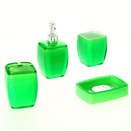 4 accessoires de salle de bain clear vert achat for Accessoire de salle de bain vert