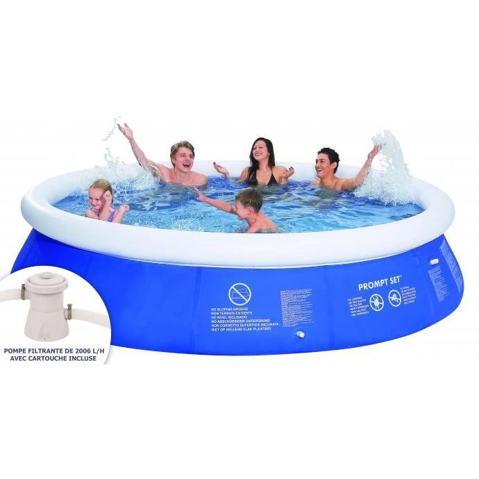 piscine gonflable autoportante ronde et pompe de filtration 360x76cm achat vente kit. Black Bedroom Furniture Sets. Home Design Ideas
