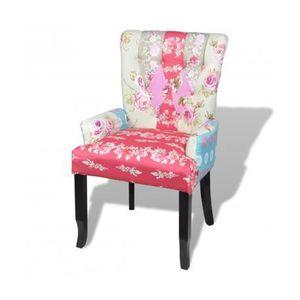 CHAISE Chaise design Patchwork multi couleur ergonomique