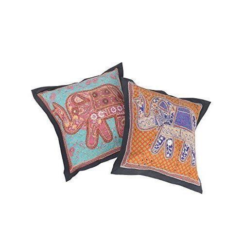 Designer housse de coussin en coton patchwork 21 par 21 - Housse de coussin patchwork ...