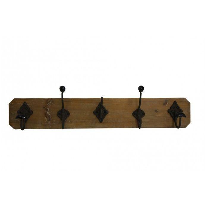 pat re 5 crochets brocante x cm achat vente porte manteau pat re cdiscount. Black Bedroom Furniture Sets. Home Design Ideas