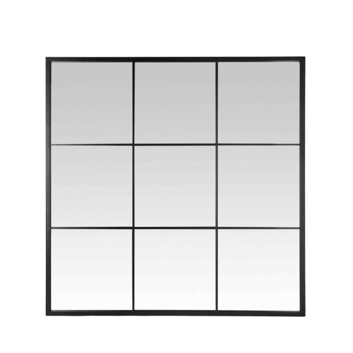 Miroir fen tre style industriel 100x100 jules couleur for Fenetre 100x100