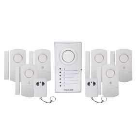 Alarme sans fil avec 6 capteurs porte fen tre achat - Alarme fenetre sans fil ...