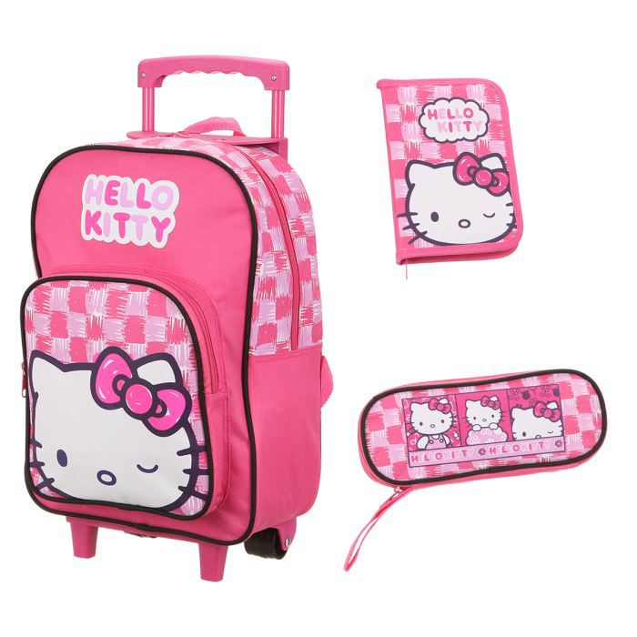 CARTABLE HELLO KITTY Set 3 pièces Fille