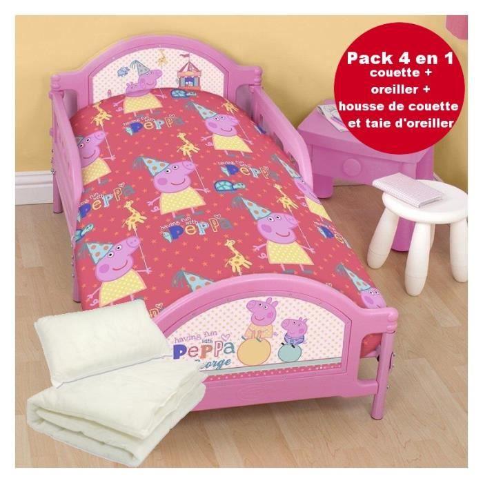 4 en 1 peppa pig parure de lit housse de couette 120x150. Black Bedroom Furniture Sets. Home Design Ideas
