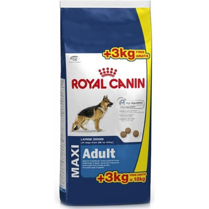 royal canin croquettes chien maxi adult 15 3 kg achat vente croquettes royal canin maxi. Black Bedroom Furniture Sets. Home Design Ideas
