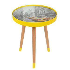Table d appoint verre et metal achat vente table d appoint verre et metal pas cher cdiscount - Table basse new york pas cher ...