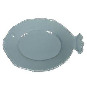 ASSIETTE COTE TABLE Assiette poisson 34x25,5 cm bleu