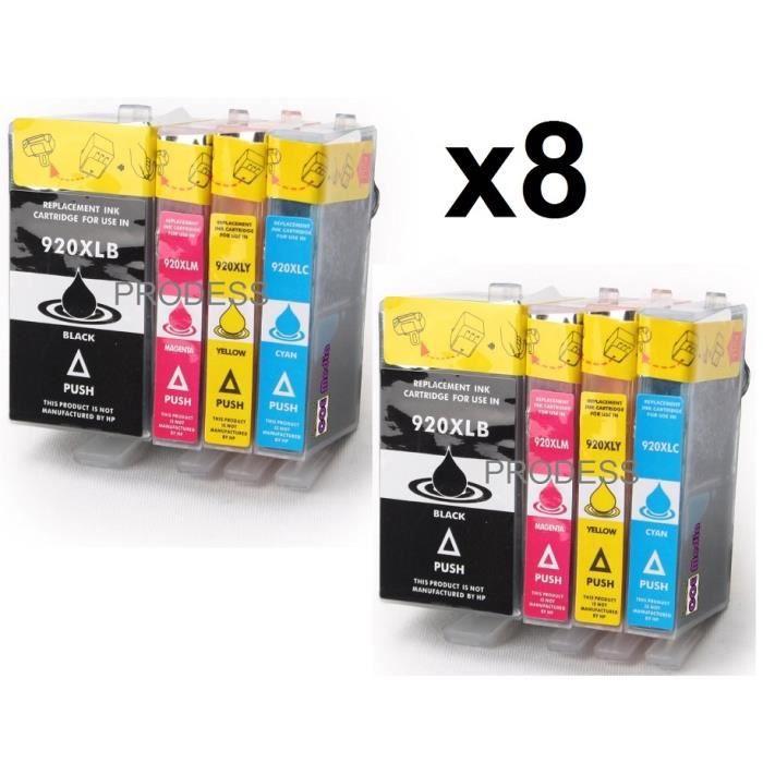 pack de 8 cartouches d 39 encre compatibles avec hp 920xl pour imprimantes officejet 7500a prix. Black Bedroom Furniture Sets. Home Design Ideas