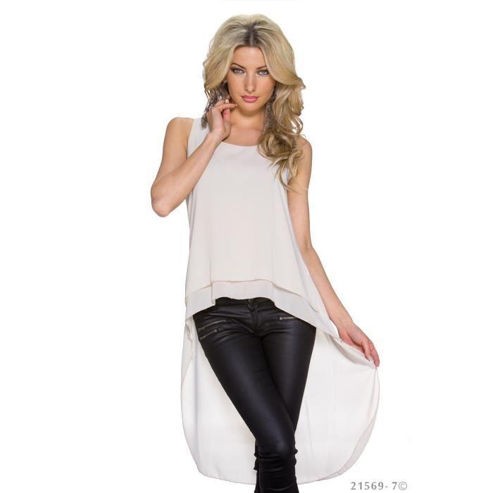 chemise blouse tunique longue courte beige femme achat vente chemise chemisette. Black Bedroom Furniture Sets. Home Design Ideas