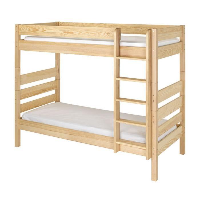 pack lit superpos kids brut peindre avec tiroir de lit et 2 matelas achat vente lits. Black Bedroom Furniture Sets. Home Design Ideas