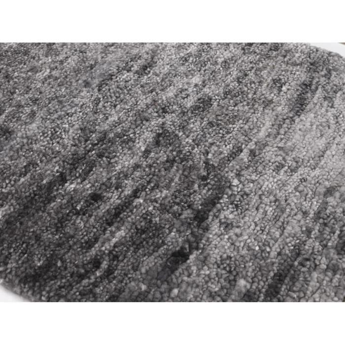 Tapis De Salon Uni Silky Par Angelo 170x240cm Gris