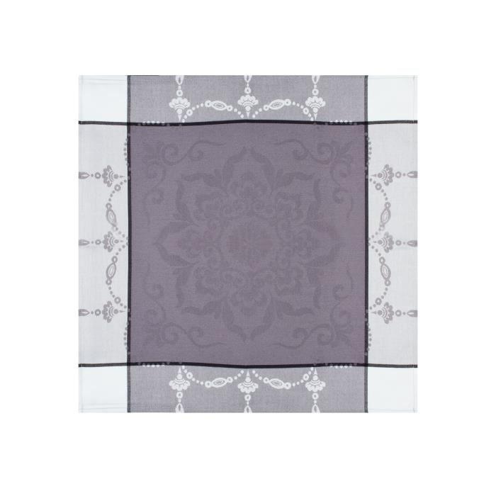 Serviette en tissu jacquard look gris 48 x 48 cm achat for Serviettes de table en tissu