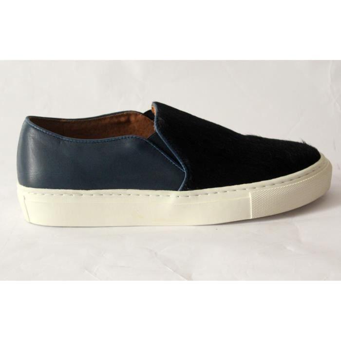 basket plateforme cuir chaussures mode femme t 38 neuves bleu noir achat vente basket. Black Bedroom Furniture Sets. Home Design Ideas