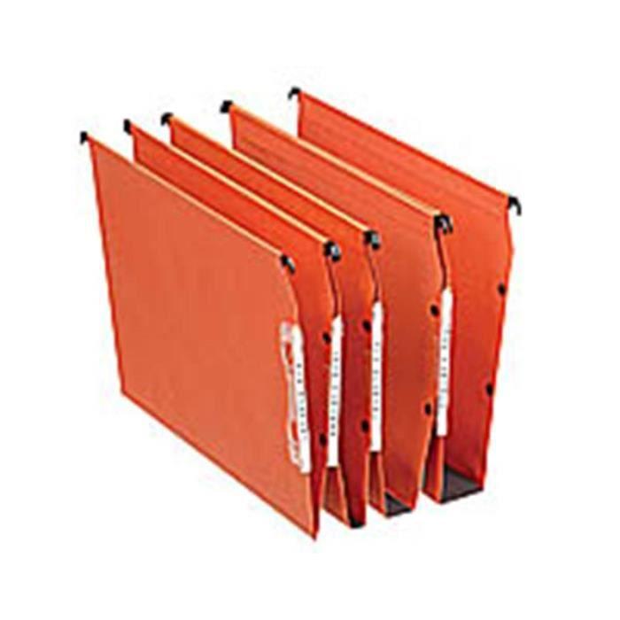 25 Dossiers Suspendus Dual Orange Pour Armoire Achat