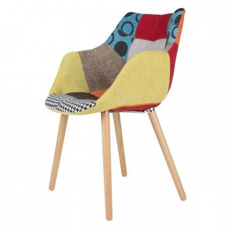 Chaise twelve patchwork zuiver multi couleurs achat for Chaise zuiver