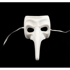 Masque de venise blanc a peindre nasone achat vente for Decorer un masque blanc