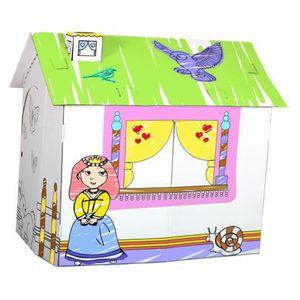 Maison en carton enfant achat vente jeux et jouets pas chers - Maison carton enfant ...