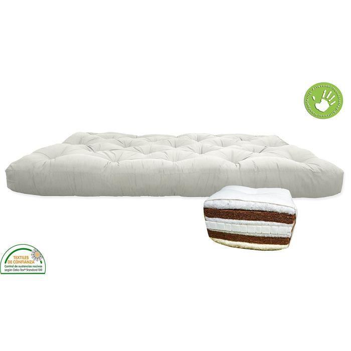 Housse de protection pour futon couleur rouge 160 x 200 for Housse pour futon