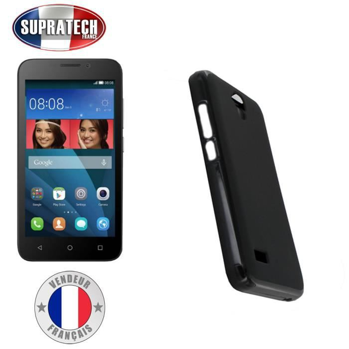 Coque housse silicone noir souple pour huawei y5 achat for Housse huawei y5