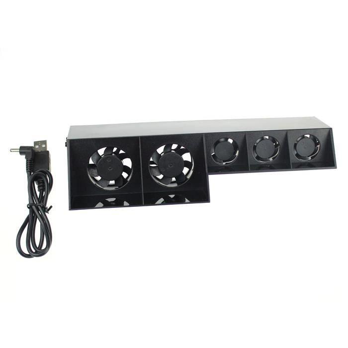 informatique gaming ventilateur refroidisseur usb noir pour ps playst f  auc