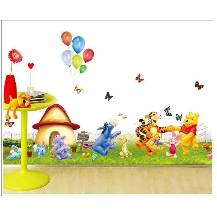 Sticker mural winnie l 39 ourson et de ses amis achat for Decoration murale winnie l ourson
