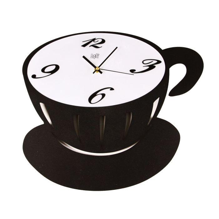 horloge d corative murale en m tal inoxydable achat vente horloge cdiscount. Black Bedroom Furniture Sets. Home Design Ideas