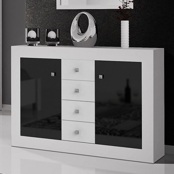 commode blanche et noire. Black Bedroom Furniture Sets. Home Design Ideas