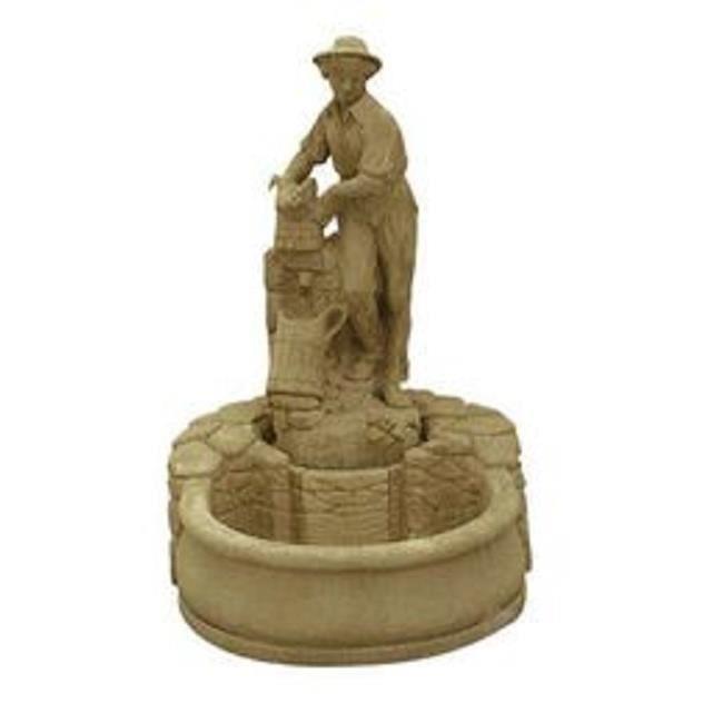 Fontaine en pierre, Puiseur d'eau sur barssin - Achat ...