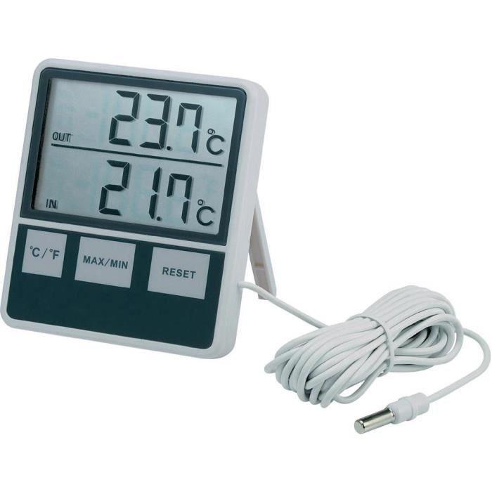 Thermom tre d 39 int rieur et d 39 ext rieur achat vente for Thermometre exterieur original