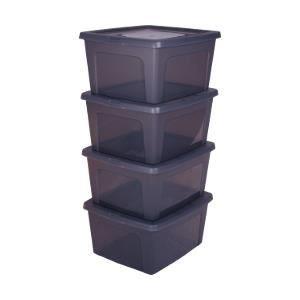 Boite de rangement gris systeme de rangement cube de for Boite de rangement decorative