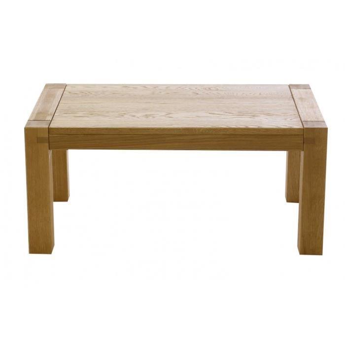 Table basse rectangulaire ch ne 100 cm long re couleurs - Soldes table basse ...
