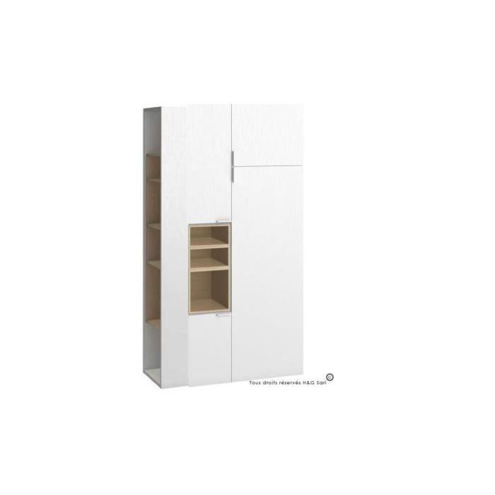 armoire dressing double 4 you avec colonne de rangement haute achat vente armoire de chambre. Black Bedroom Furniture Sets. Home Design Ideas