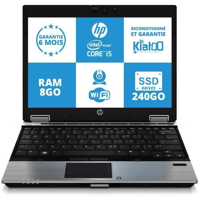 ordinateur portable hp elitebook 2540 ultrabook intel core i5 8go ram 240go disque dur ssd. Black Bedroom Furniture Sets. Home Design Ideas
