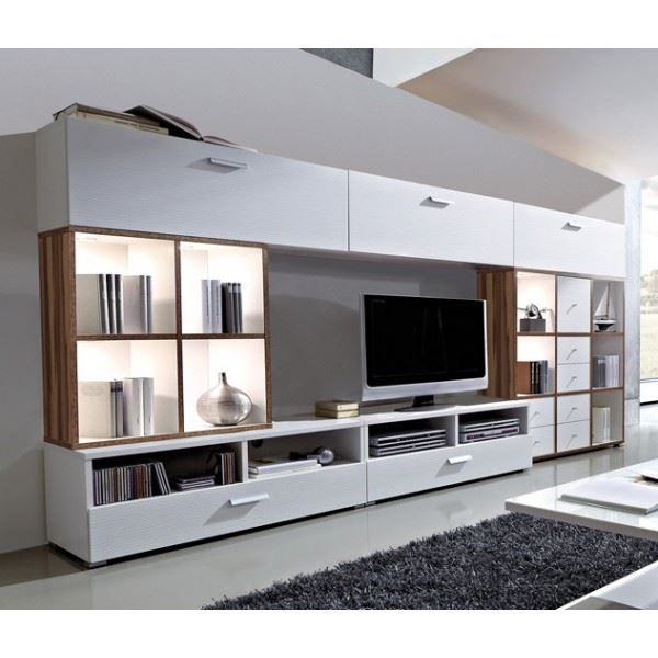 ensemble meuble tv et biblioth que lali colori achat. Black Bedroom Furniture Sets. Home Design Ideas